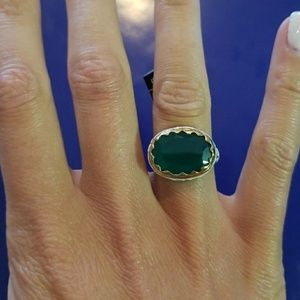 Banana Republic brand new ring with green stone!